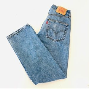 Levis 501 Button Fly Blue Jeans Vintage 29 X 30